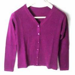 OGF Woolen Ladies Plain Cashmere Cardigan Sweater, Size: M to Xl