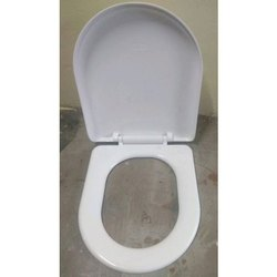 White Plastic Toilet Seat Cover, For Bathroom Fitting
