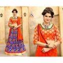 Ladies Jacquard Silk Lehenga, Size: S, M & L