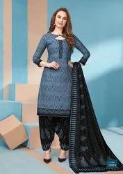 Cotton Mayur Ikkat Special Dress Material