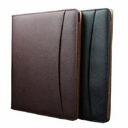 Brown and Black Leather File Folder, For Office