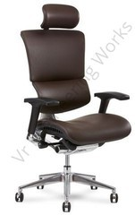 Brown Leather Executive Chair, 5