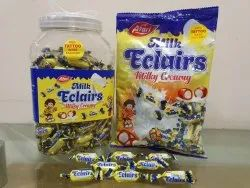 Center Fill Milky Eclairs Toffee, Packaging Type: Jar