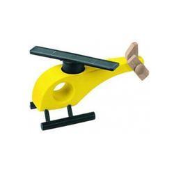 Aviator Shopper Yellow Wooden Solar Helicopter