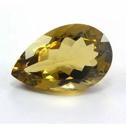 Pear Shape Bright Yellow Beer Quartz Faceted Cut Loose Gemstone For Jewelry