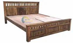 Sheesham Wood Honey Hunter Double Bed