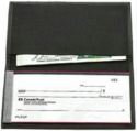 Leather Cheque Book wallet