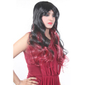 28 Black Brown & Red Curly Hair Style Wig
