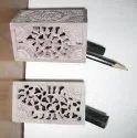 Soapstone Fish Design Pen Stand