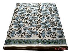 Hand Block Printed Cotton Sanganer Printed Fabric Indian Printed Floral Printed