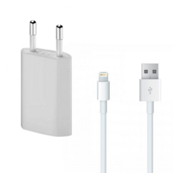 White Electric iPhone Charger