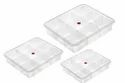 Transparent Rectangle 9 Sections Plastic Partition Box, For Pharmaceutical