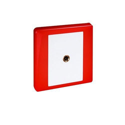 ABS Plastic Red And White Fire Telephone Jack