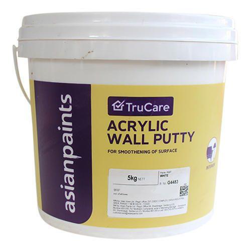 White Asian Paints Trucare Acrylic Wall Putty Rs 70 Kg Sri Sai Krupa Traders Id 20154963062