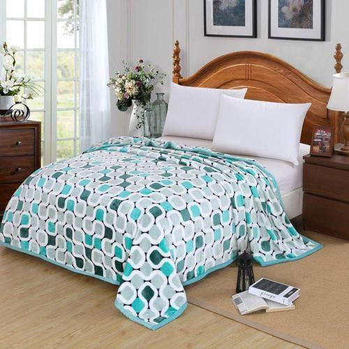 Printed Packet Flannel Double Bed Blankets 18e97c559