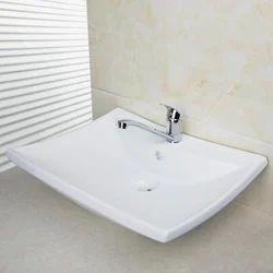 Wall Mounted Ceramic Wash Basin, For Bathroom