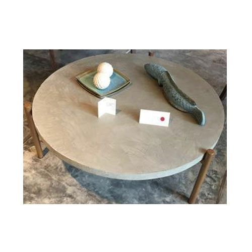 Round Concrete Garden Table  sc 1 st  IndiaMART & Round Concrete Garden Table Bagiche Ki Mez Balcony Table Garden ...