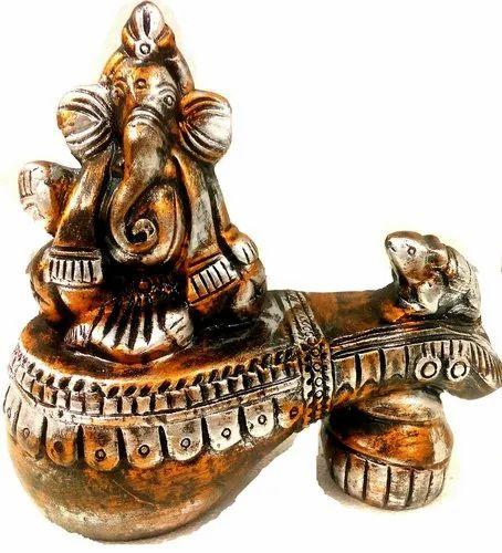 Handcrafted Terracotta Home Decor Ganesha For Interior Decor Rs