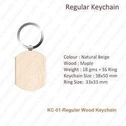 Wooden KeyChain-KC-01-Regular