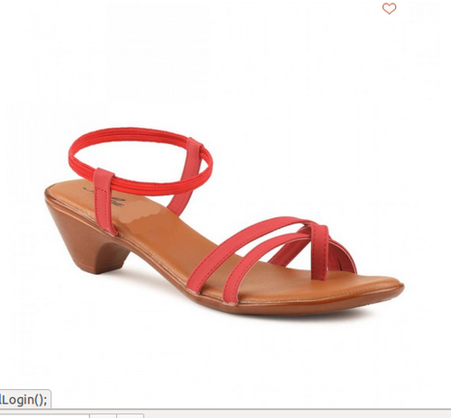 Solea Womens Red Casual Sandals, Size