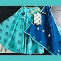 Indian Ethnic Designer Sky Blue Cotton Skirt