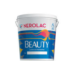 Nerolac Beauty Premium Acrylic Distemper, Packaging Type: Bucket