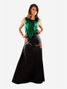 Black Embroidered Fit N Flare Skirt