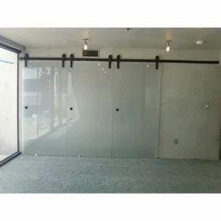 Sliding Transparent Glass Door