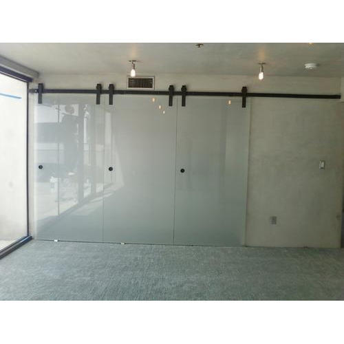 Attrayant Transparent Glass Door