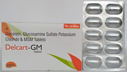 Diacerein, Glucosamine Sulphate, Potassium Chloride and MSM Tablets