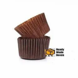 7cm Brown Colour Cup Cake Liner Box