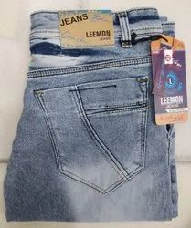 Blue Comfort Fit High Quality Dobby Jeans