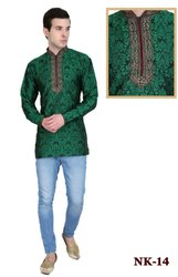 Silk Heavy Embroidery Mens Kurta
