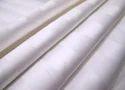 White Cotton Satin Stripe Fabric, Gsm: 100-150 Gsm