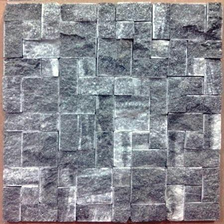 Mosaic Tiles For Wall Cladding - Bhaisana Black Marble Wall