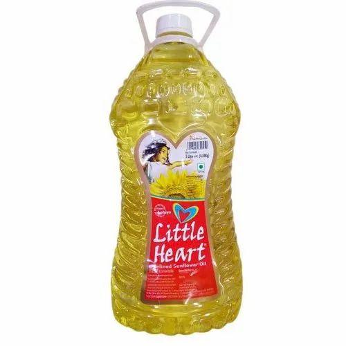 5 L Little Heart Sunflower Refined Oil, Packaging Type ...