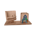Wooden Pen Stand With Mobile Holder