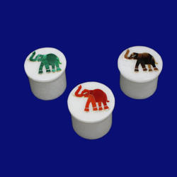 Marble Inlay Elephant Design Box