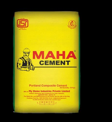 OPC (Ordinary Portland Cement) My Home Cement, Cement Grade: Grade 43, Packaging Size: 50 Kg