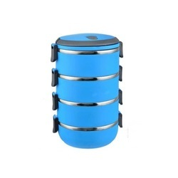 4 Layer Lunch Box Blue