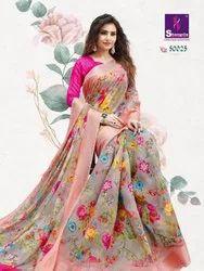 Shangrila Jaipuri Linen Cotton Printed Saree