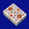 Pietra Dura Lapiz Lazuli Marble Inlay Box