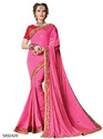 Pink Color Stylish Indian Saree