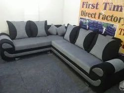 Wooden Black Moshy L sofa, For Home
