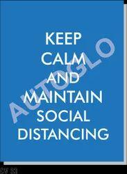 Corona Virus Signage: Keep Calm And Maintain Social Distancing