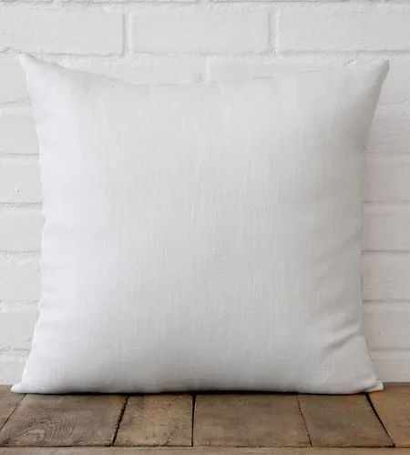 White Foam Sublimation Square Linen Cushions, for Home