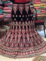 Bridal Velvet Thread Work Lehenga