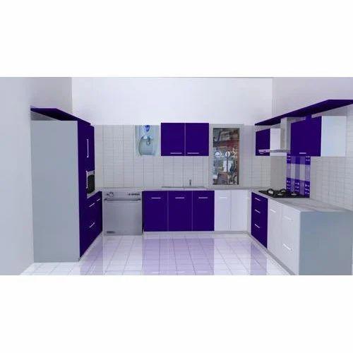 U Shape Designer Modular Kitchen, Rs 95000 /set, Kube