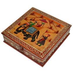 Wooden Box With Painting Work