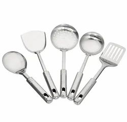 Stainless Steel Kitchen Tool Set For Cooking, Set Of 5